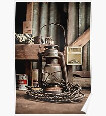 Old Vintage Rustic Lantern Poster