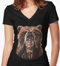 Bear Schrute T-shirt col V femme