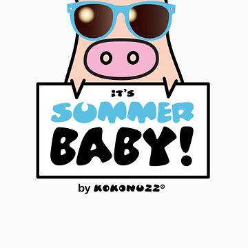 It's Summer Baby! - Cool KINO the pig by Kokonuzz