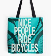 Nice People Ride Bicycles Tote Bag
