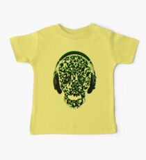 °ღ♫Cool Vintage Feel Skull Listening to Music Clothing & Stickers♪ღ° Kids Clothes