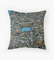 Looking Through A Window of the Old Stone Mill Throw Pillow