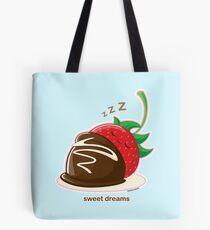 Cute Sweet Dreams Chocolate Strawberry Tote Bag