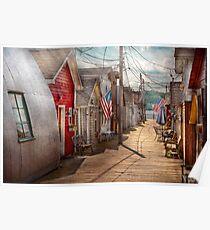 City - Canandaigua, NY - Shanty town  Poster