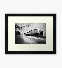 Fast Speeding Train Framed Print