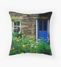 Traditional Irish Cottage Throw Pillow