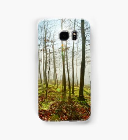 Beauty of winter forest with moss, sunny day, nature concept Samsung Galaxy Case/Skin