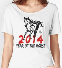 Chinese Zodiac Year of The Horse 2014 Women's Relaxed Fit T-Shirt