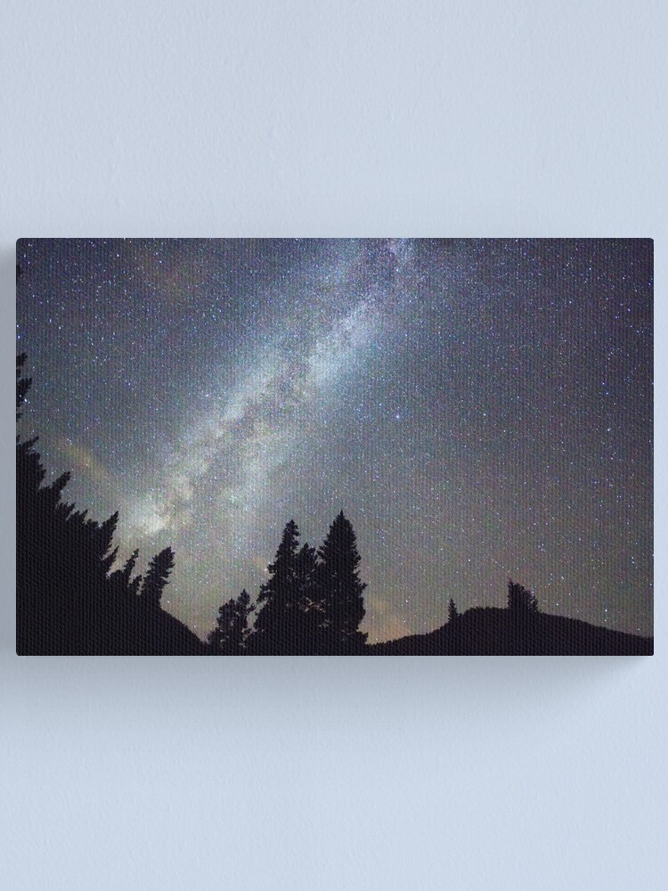 Alternate view of Mountain Milky Way Stary Night View Canvas Print