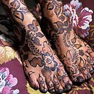 Womans Feet With Henna by printscapes