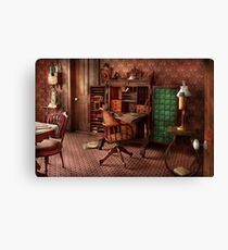 Doctor - Desk - The physician's office  Canvas Print