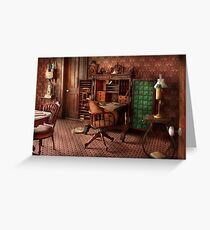 Doctor - Desk - The physician's office  Greeting Card