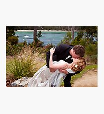 You may kiss the bride Photographic Print