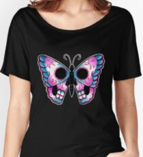 Sugar Skull Butterfly Tattoo Flash Women's Relaxed Fit T-Shirt