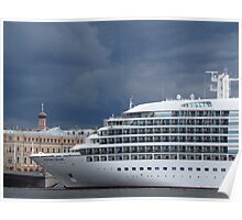 Seabourn Sojourn Berthed Beneath Stormy Skies Poster