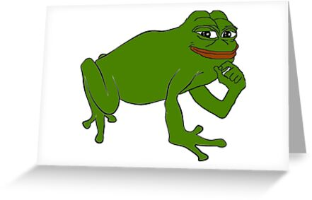 Pepe the frog greeting cards by steelmemes redbubble pepe the frog by steelmemes m4hsunfo