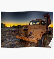 Outback Sunset Poster