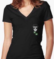 Breaking Bad Heisenberg Logo Women's Fitted V-Neck T-Shirt