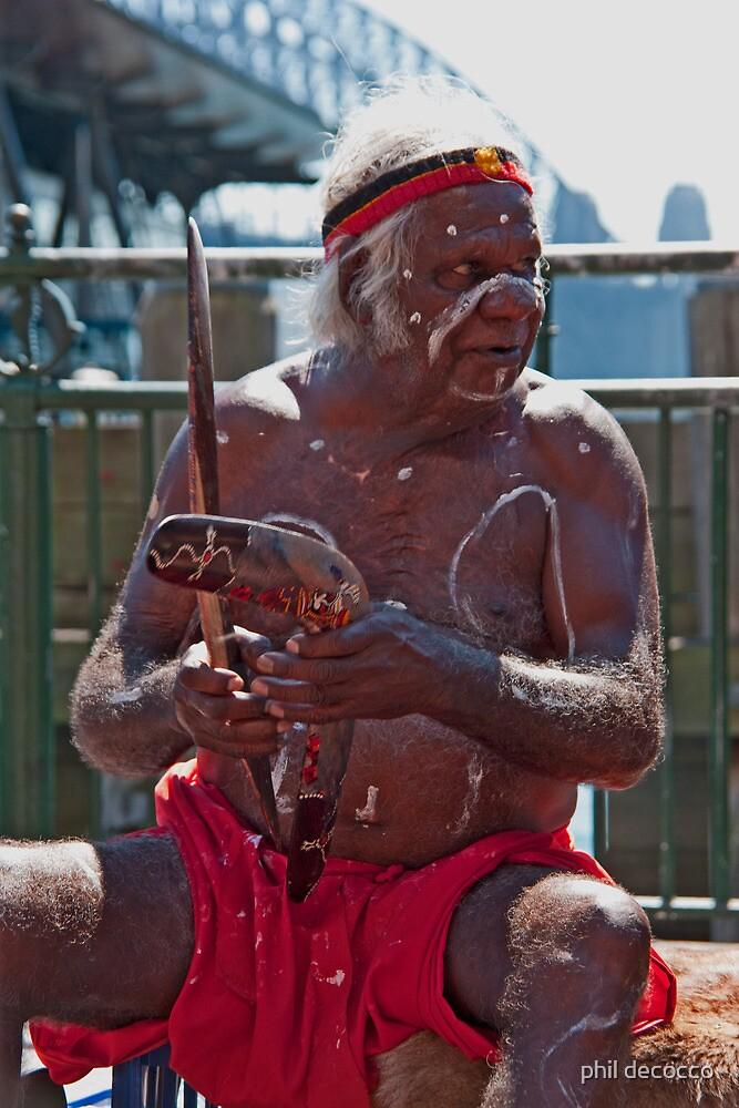 Aboriginal Music Man by phil decocco