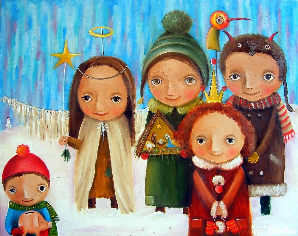Carollers by Monica Blatton