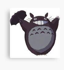 Totoro Funny Canvas Print
