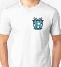 Uncommon Familiarity - Blue Geometric Stag Mini Crest T-Shirt