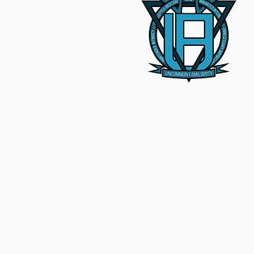 Uncommon Familiarity - Blue Geometric Stag Mini Crest by OddGog