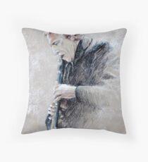 Trumpetist Flamenco Throw Pillow