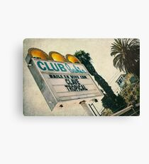 Club Bahia Latin Night Club Retro Sign Canvas Print