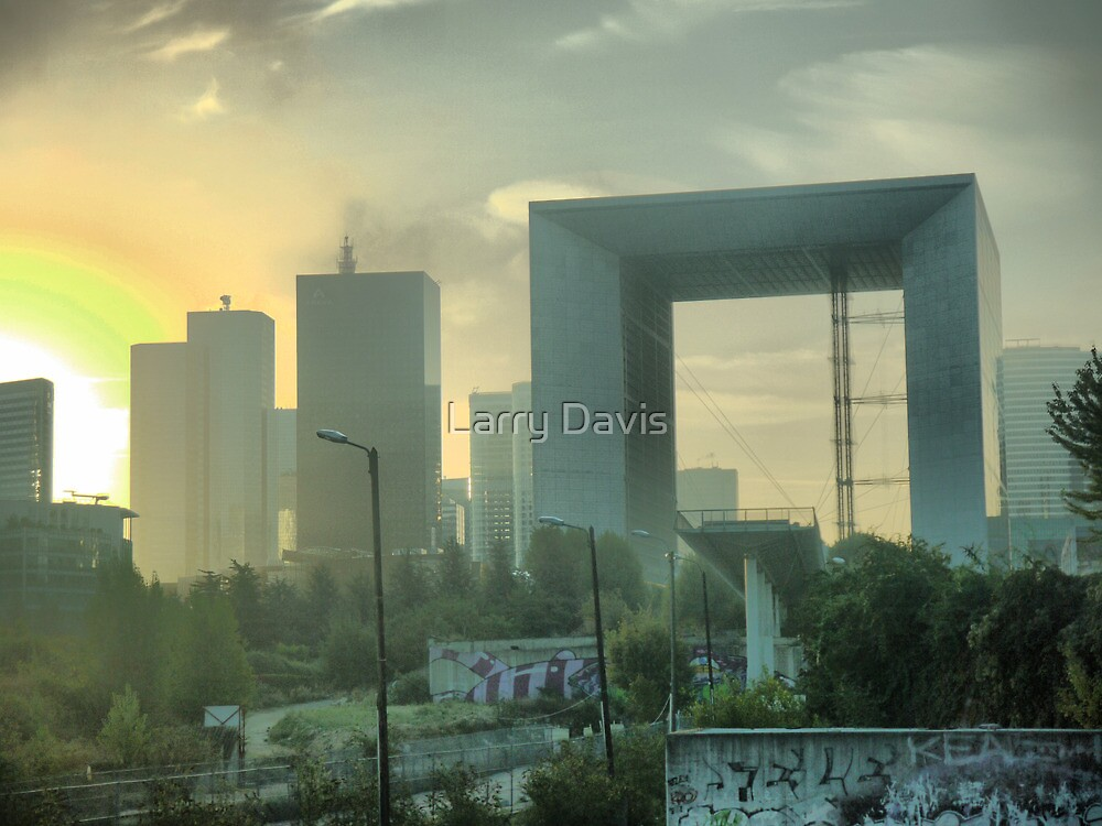 Early Morning in La Defense. by Larry Lingard-Davis