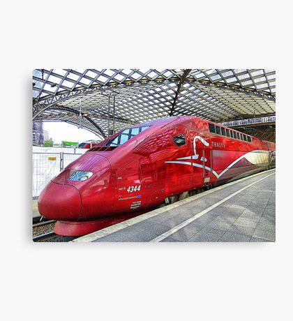 Thalys High Speed train. Canvas Print