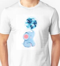 Good Luck Elephant - Rondy holding planet Earth Unisex T-Shirt