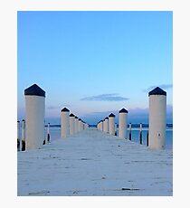 Blue Sky Dock Photographic Print