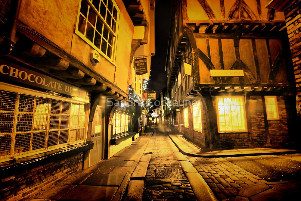Little Shambles, York by Sandra Cockayne
