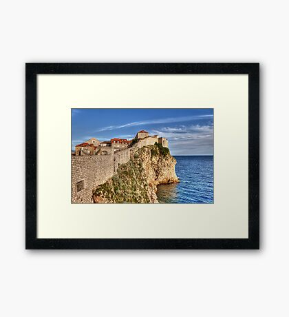 Old Town Wall, Dubrovnik Framed Print