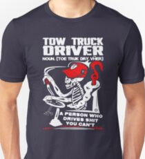 5885a357 Tow Truck Driver Slim Fit T-Shirt