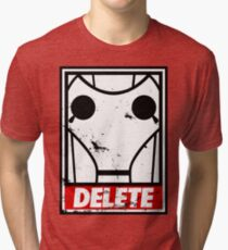 Obey, or be DELETED! Tri-blend T-Shirt