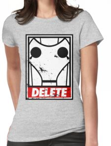 Obey, or be DELETED! Womens Fitted T-Shirt