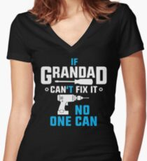Grandad Can Fix It Women's Fitted V-Neck T-Shirt