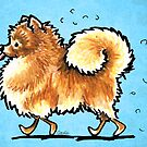 Pomeranian Shedding Dog Hair Turquoise by offleashart
