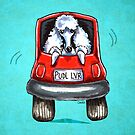 Poodle-Mobile Turquoise by offleashart