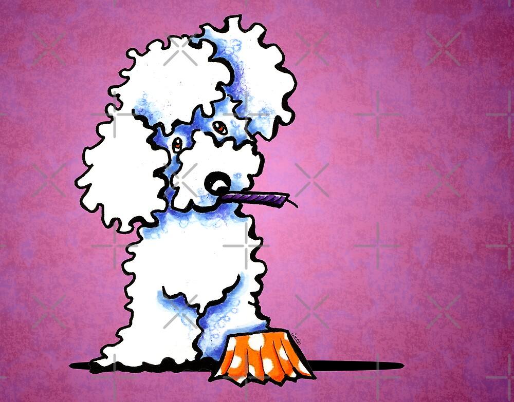 White Poodle Cupcake Thief Purple by offleashart