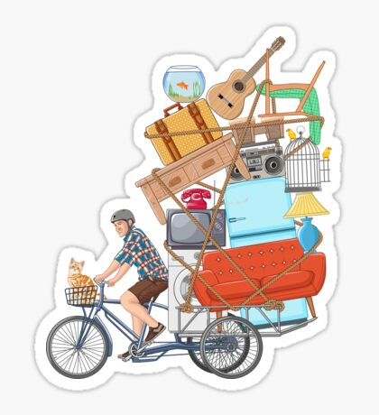 Life on the Move Sticker