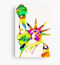 Statue Of Liberty Colorful Abstract Canvas Print