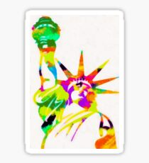 Statue Of Liberty Colorful Abstract Sticker