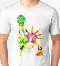 Statue Of Liberty Colorful Abstract Unisex T-Shirt