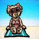 Yorkie Beachside by offleashart