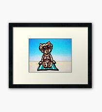 Yorkie Beachside Framed Print