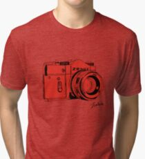 Red Russian Camera Tri-blend T-Shirt