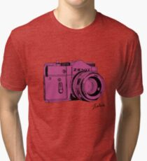 Pink Russian Camera Tri-blend T-Shirt